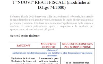 "I ""nuovi"" reati fiscali"